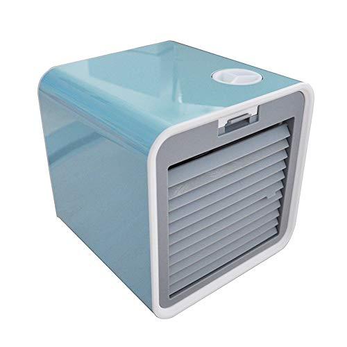 Whiie891203 Luftkühler, USB-Mini-Lüfter, 380 Ml Tragbarer USB-Klimaanlagen-Luftbefeuchter Home-Office-Tisch-Mini-Lüfter Blau