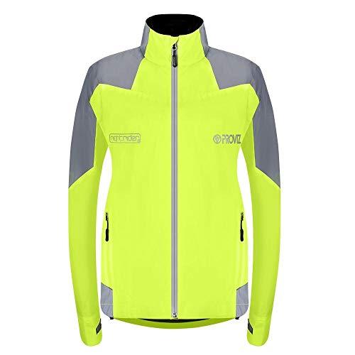 Proviz Women's Nightrider Cycling Waterproof & Reflective Jacket 2.0 Yellow