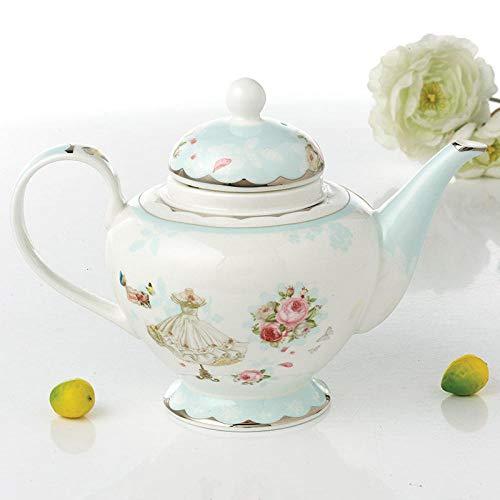 Juego de té Juegos de té Bone China Teteras Teteras de dibujos animados Porcelana Tetera de gran capacidad Teteras de cerámica Juegos de té