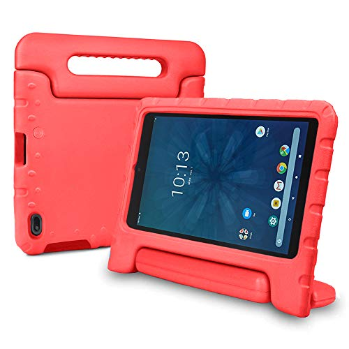 Bolete Onn 8 Zoll Tablet Hulle leicht stosfest Schutzgriff Stander Kinderhulle fur Walmart Onn 8 Zoll Android Tablet Modell ONA19TB002 2019 Release Rot