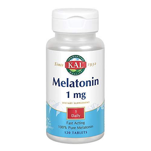 Solaray, Melatonina 1Mg, 120 Tabletas