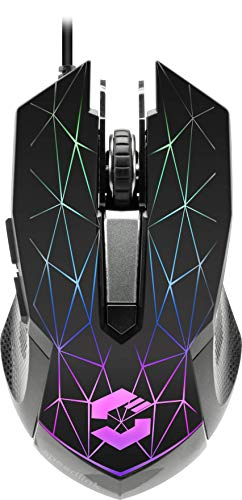 RETICOS RGB Gaming Mouse, Black