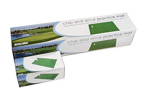 Longridge Deluxe Golf Practice Mat - Green, 1x2 Inch