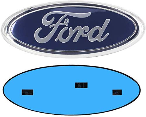 9 Inch Front Grille Rear Tailgate Emblem, 9'X3.5' Oval Badge Name Plate for 2004-2014 F150, 2005-2007 F250 F350, 11-14 Edge, 11-16 Explorer, 06-11 Ranger (Blue)