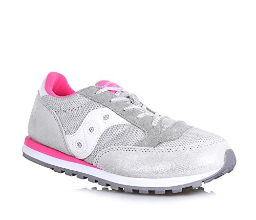 SAUCONY Girls Jazz O sneakers PELLE TESSUTO SILVER PINK SY56006 36