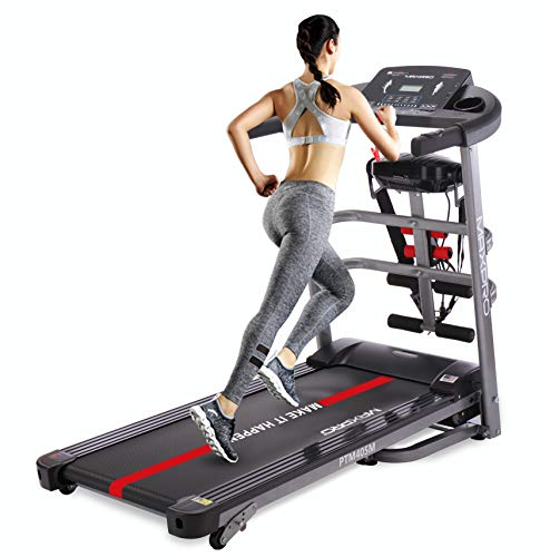 WELCARE MAXPRO PTM405M 2HP(4 HP Peak) Multifunction Folding Treadmill, Electric Motorized Power Fitness Running Machine with LCD Display for Intense Workout Session