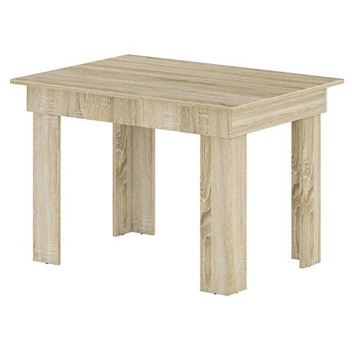 BIM Furniture Aurora - Mesa de comedor rectangular (110 x 80 x 75 cm, roble Sonoma)