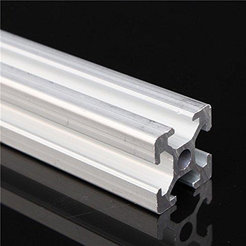 Faway 2020 - Marco de extrusión de perfiles de aluminio en T, 800 mm de longitud, color negro anodizado