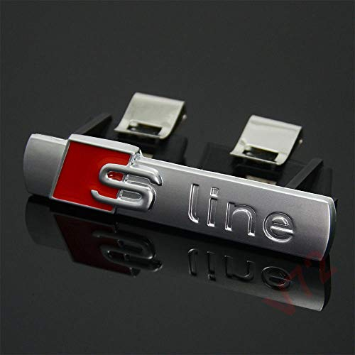 Logo Compatibile Per Griglia S-Line RS Paraurti Stemma Satinato Badge Per Audì anteriore auto distintivo emblema styling per A1/A3/A4L/A5/Q5
