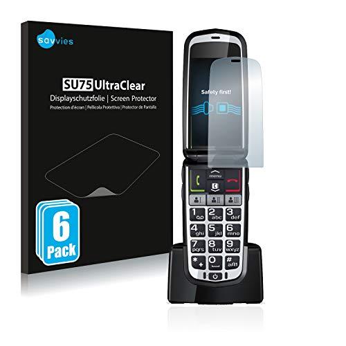 Savvies 6X Schutzfolie kompatibel mit Emporia Comfort Bildschirmschutz-Folie Ultra-transparent
