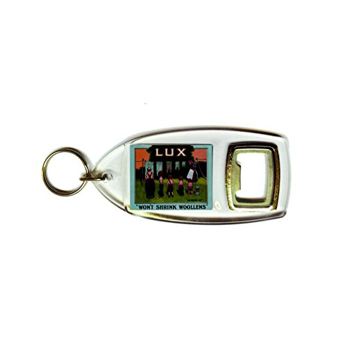 Lux zeep onze wasdag zal wollens retro shabby chic vintage stijl acryl sleutelhanger sleutelhanger en flesopener niet krimpen