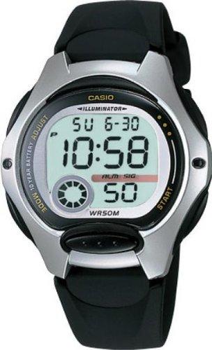 CASIO Collection LW-200-1AVEF - Reloj de mujer de cuarzo, correa de resina color negro (con cronómetro, alarma, luz)