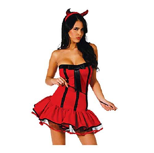 Top Totty - Costume da Diavolo Rosso Sexy, da Donna