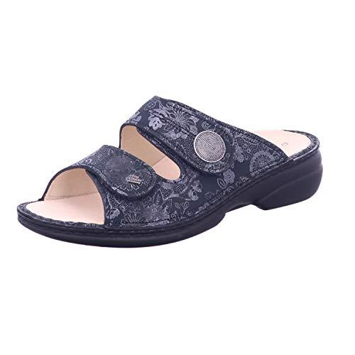 Finn Comfort Sansibar 2550-701452 - Pantofole in pelle, colore: Antracite, Grigio (grigio.), 39 EU