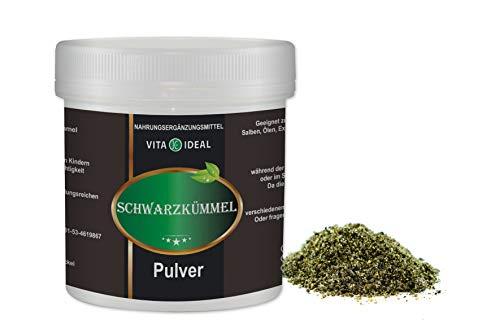 VITA IDEAL ® Schwarzkümmel PULVER 300g (Nigella sativa) + Messlöffel