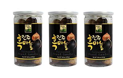 3 Pack of Jayone 250g (8.8 Oz) Black Garlic Pearl Garlic, Made of 100% Fermented Single Clove Garlic in Gift Box by
