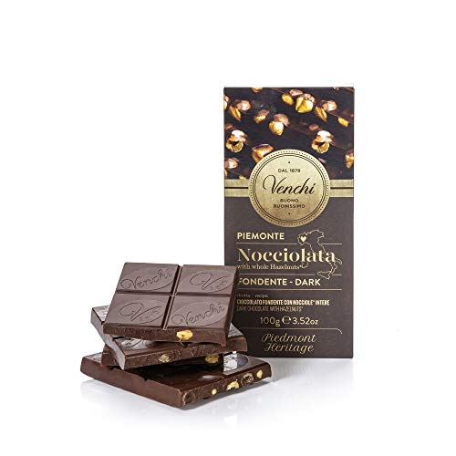 Tavoletta di Cioccolato Fondente 56% con Nocciole Piemonte IGP Intere 100g - Senza Glutine