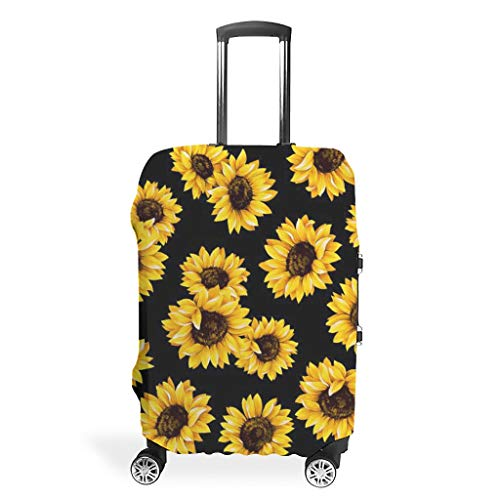 Sunflower (1) Fashion Multiple Colors Suitcase Protective Cover Dust-Proof 18 to 32 Inch for Tour White XL (76x101cm)