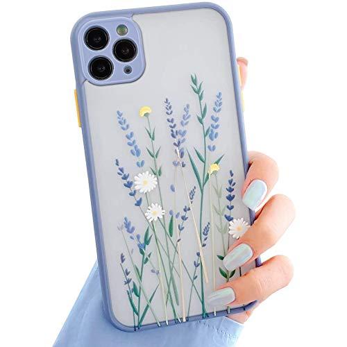 Funda Para iPhone 12 Pro Max,Carcasa Patrón de Flores Transparente Suave TPU Silicona Funda Floral Para Mujer Gel Bumper Anti-Rasguños Ultra Fina Protección Caso Para iPhone 12 Pro Max