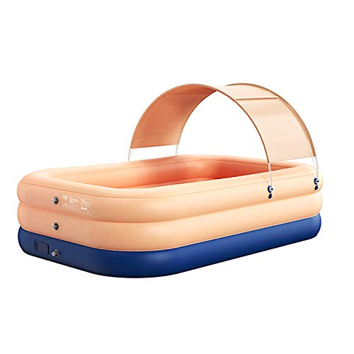 DFYR Piscina al Aire Libre, Bañera Plegable, Cubo de Natación Inflable Engrosado para Niños, Gran Piscina Portátil al Aire Libre Adecuada para Bañarse Y Nadar