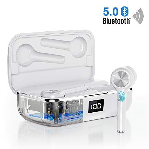 Auriculares Bluetooth 5.0, Orit Auriculares inalámbricos Mini Twins 40h reproducción Estéreo In-Ear Bluetooth con Micrófono Manos Libres Audífonos con Caja de Carga Portátil para iPhone Android Xiaomi