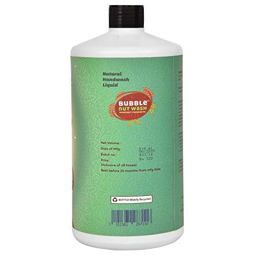 BubbleNut Wash – Natural and Organic HandWash Liquid (810 ml) Refill | Paraben free & Sulphate free Hand Wash