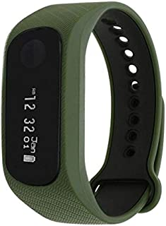 Fastrack Unisex Smart Band Black Dial Green Strap Watch - 90059PP06