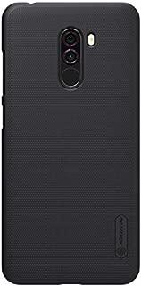 for Xiaomi Pocophone F1/Poco F1 Case,Nillkin [with Kickstand] Slim Thin Shield Anti Fingerprints Hard Matte PC Case Back Cover for Xiaomi Pocophone F1/Poco F1 Mobile Phone case (Black)
