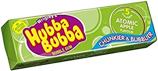 Wrigley's Hubba Bubba Atomic Apple Flavour Bubble Gum (20 Packs)