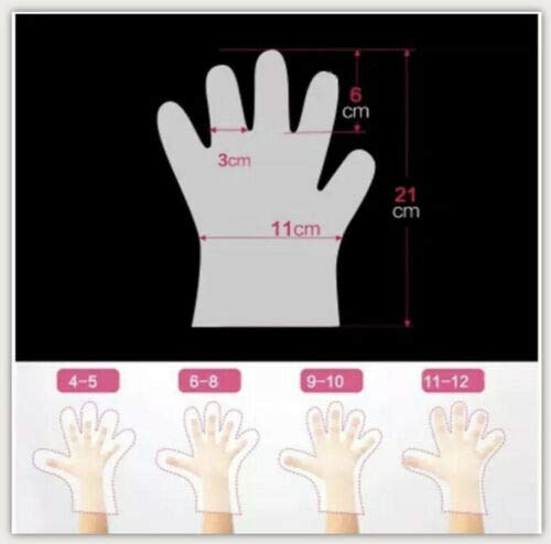 Kids Disposable Gloves for Eat, Play, and Craft. XS Gloves Disposable Multi Use for Dirty Hand, Age 4-10 (300 PCS) Polyethylene Plastic