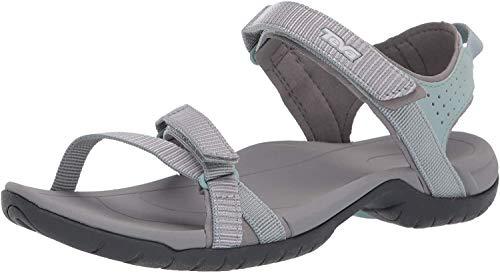 Teva W Women's Verra Sandal, Gr, 8.5 Medium US, Spili Ladder Gray Mist