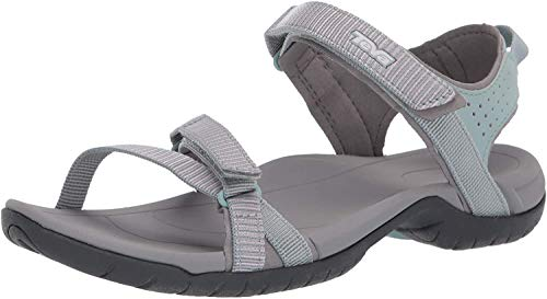 Teva Women's W Verra Sandal, SPILI Ladder Gray Mist, 8 Medium US