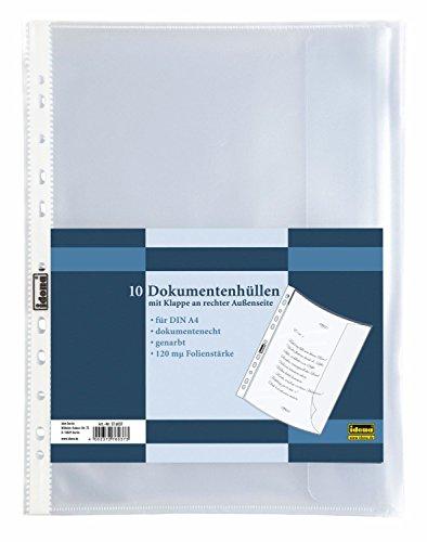 Idena 376037 Dokumentenhülle (DIN A4, 10 Stück, genarbt)