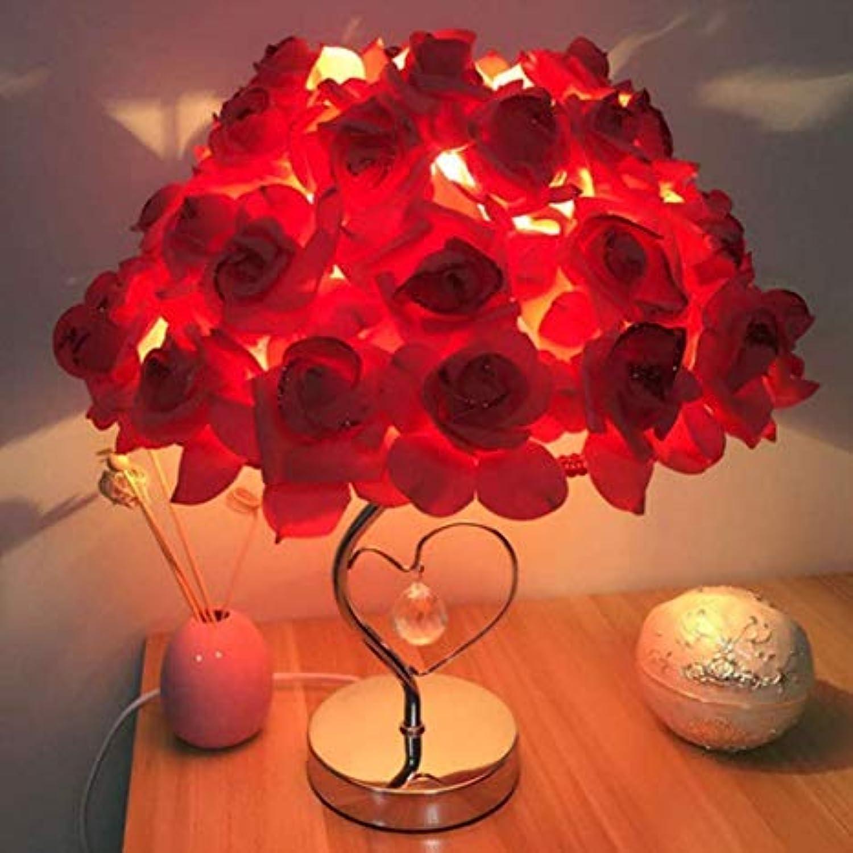 SUNA Moderne Schlafzimmer Tischlampe, Geschenk Dekorative Nacht Stieg Herzfrmige Tischlampe Hochzeit Liefert (rot)