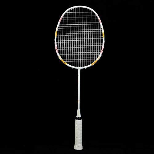 Kinderen badmintonracket full carbon trainingsracket badmintonracket kinderen studenten-1 stok-witte kinderen shot_57cm