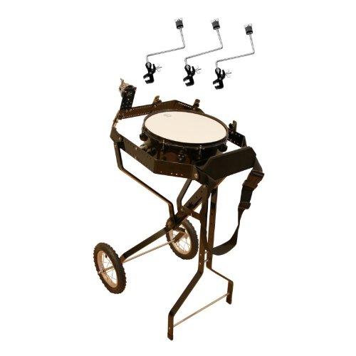 Schlagzeugwagen für 4 Toms, mit Snare, Hi-Hat Rosette, 3 Beckenhalter