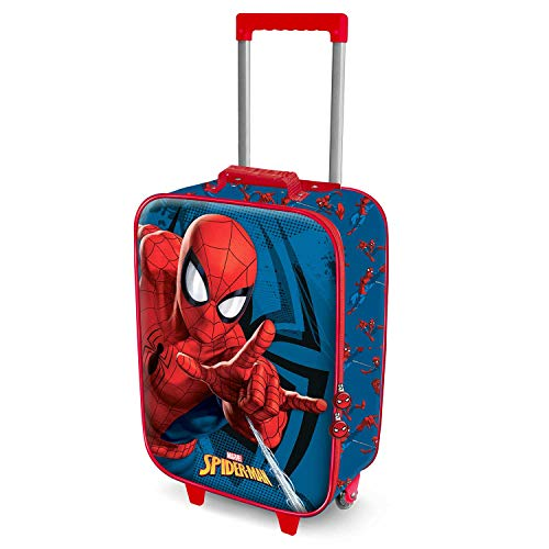 Karactermania Spiderman Crawler - Maleta Trolley Soft 3D, Multicolor, Un tamaño