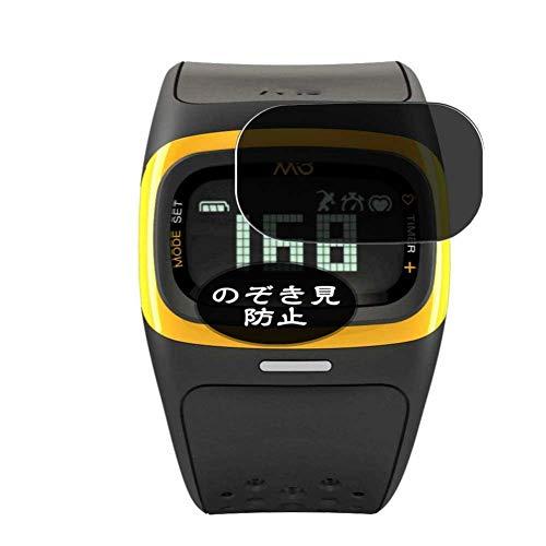 Vaxson Protector de pantalla de privacidad, compatible con reloj inteligente Mio Alpha 2, protector de película antiespía [vidrio templado] filtro de privacidad
