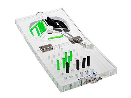 AFH-Webshop 1453402 Feinmotorik Ubungsboard aus Acryl/Steckbrett/Stecktafel/Therapie Ergotherapie, 16 x 16 cm