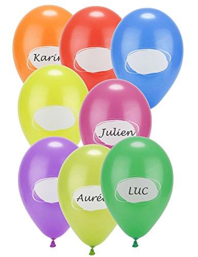 8 Luftballons zum Beschriften