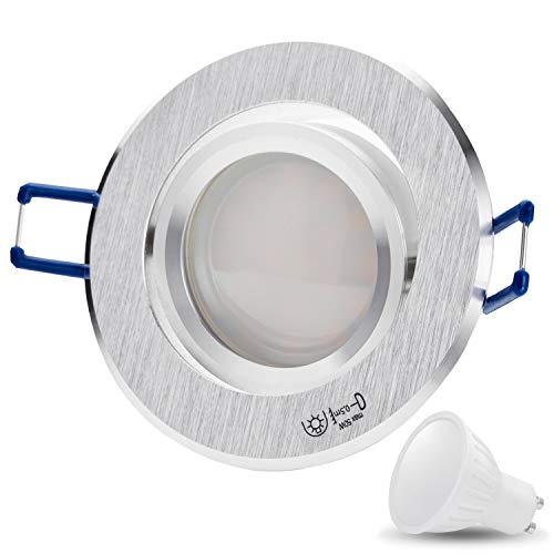 JVS-Handel - Coperchio STAR 230 V per faretto LED SMD da incasso per soffitto moderno LED14 SMD 6.5W (500lm) Kaltweiß