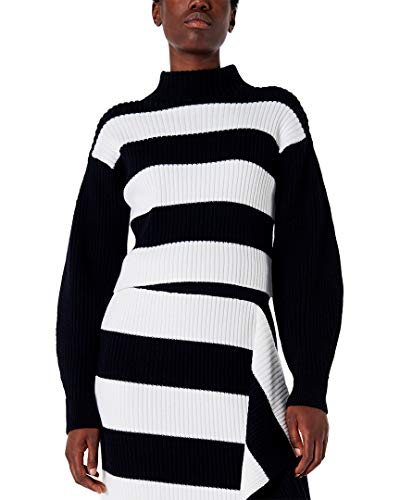 Color/pattern: black & white multi Approximately 18in from shoulder to hem 100% merino wool Dry clean only Imported