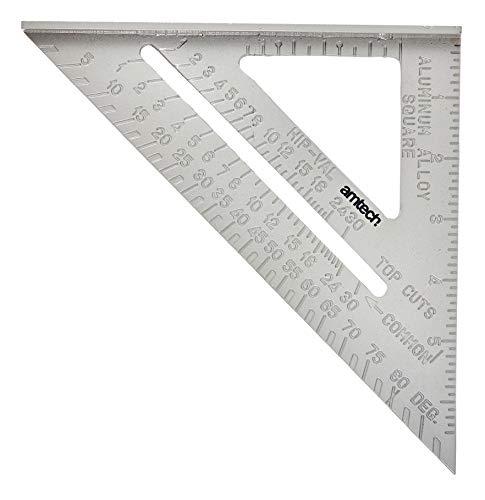 Am-Tech Squadra in alluminio professionale, lunghezza 15,2 cm