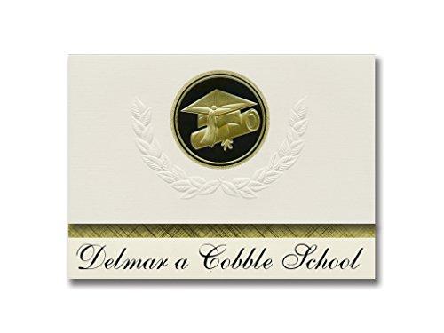 Signature Announcements Delmar a Cobble School (Columbia/MO) Abschluss-Ankündigung, Presidential Style, Elite Paket mit 25 Kappen und Diplom-Siegel.