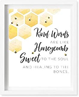 Pulling Kind Words are Like Honeycomb Sweet to The Soul Proverbs 31 Woman Watercolor Art Faith Prints Scripture Printable Art