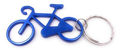 H-Customs Fahrrad aus Metall blau Anhänger Schlüsselanhänger
