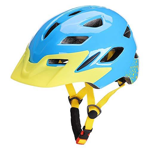 HAHADONG Casco de bicicleta ultraligero para niños, ligero, para ciclismo, patinaje, deportivo, con luz de seguridad, casco de ciclismo, B