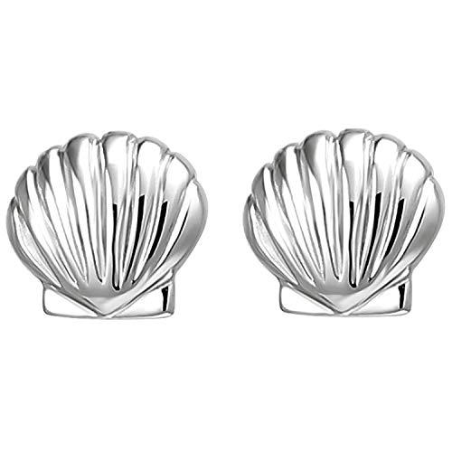 JOBO Kinder Ohrstecker Muschel 925 Sterling Silber Ohrringe Silberohrringe