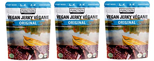 Function Natural Foods - Plant Based Vegan. Jerky - Original - 3 Pack of 2.47 ounces