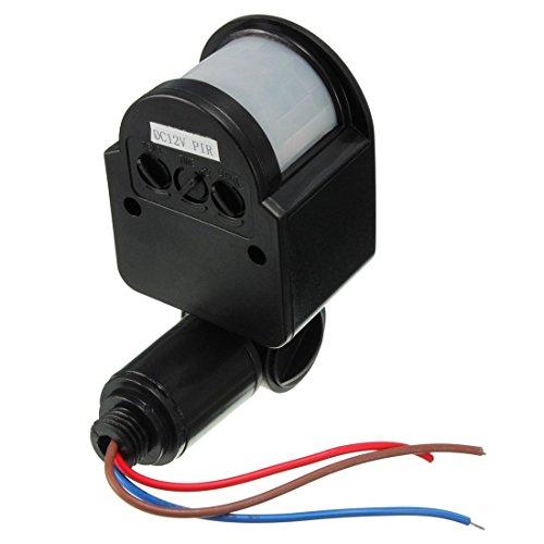 LED Luce Sensore di Interruttore - TOOGOO(R) DC12V 180¡ã Umano Infrarosso Sensore di Movimento PIR Interruttore Per LED Luce